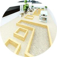 Diseño de huertos urbanos en 3D