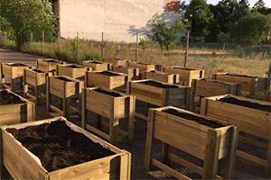 Mesas de cultivo en madera