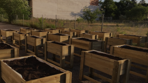 Mesas de cultivo de madera para empresas