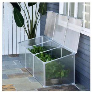Invernadero de policarbonato transparente