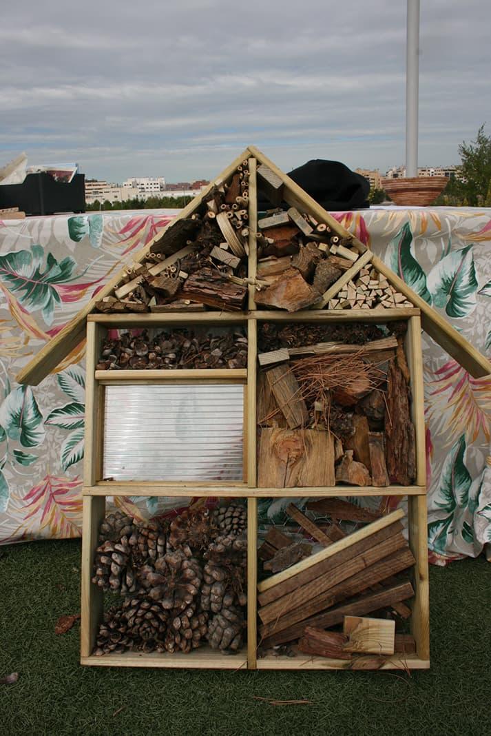Hotel de insectos para el huerto